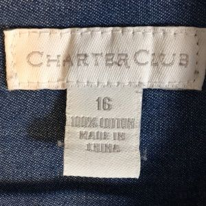 Charter Club Tops - Charter Club 100% Cotton Button Down Size 16